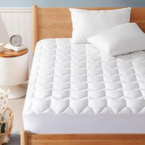 "Bedsure Queen Mattress Pad, Upgraded 500GSM Breathable Quilted Mattress Cover with Deep Pocket (8""-18""), Extra Soft Hypoallergenic Down Alternative Filled Mattress Topper"