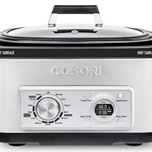 COSORI Slow Cooker 11-in-1 Programmable Multi-Cooker Pot 6-Quart,Delay Timer&Auto-iQ Recipes,Rice Cooker,Brown,Saute,Boil,Steamer,Yogurt Maker,Auto-Warmer,86°F-400°F,UL Listed/FDA Compliant