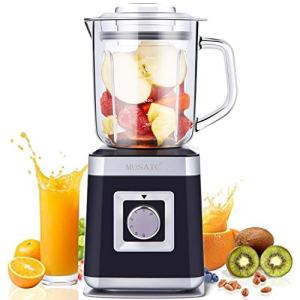 Blender, Personal Countertop Blender MOSAIC Smoothie Maker with 28 oz Glass Container, 6 Durable Stainless Steel Blades and 5 Speed & Pulse Settings for Frozen Drinks, Crushing Ice and Smoothies