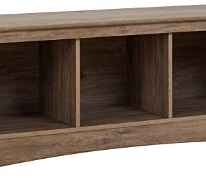 Prepac Entryway Cubbie Bench, 3, Drifted Gray