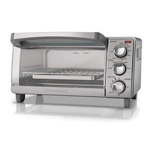 BLACK+DECKER 4-Slice Toaster Oven with Natural Convection, Stainless Steel, TO1760SS