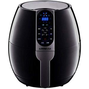 GoWISE USA 3.7-Quart Programmable Air Fryer with 8 Cook Presets, GW22638 - Black