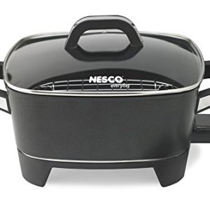 NESCO ES-12, Extra Deep Electric Skillet, Black, 12 inch, 1500 watts (Renewed)