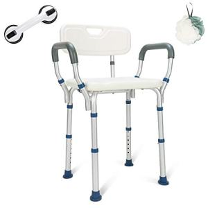 GreenChief Heavy Duty Shower Chair with Back Rest - Tool-Free Assembly - Bathtub Seat for Seniors, Elderly, Disabled & Handicap- Adjustable Medical Shower Stool Spa Seat for Bariatrics 300Lb