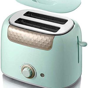 YANG Toaster, 2 Slice Toaster with Cancel/REHEAT/DEFROST Function 6 Browning Settings Wide Slot Stainless Steel Toasters Small Toaster for Bread Waffles