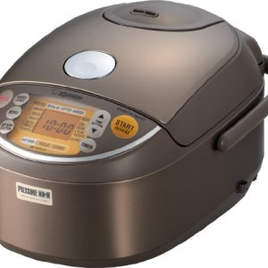 Zojirushi Induction Heating Pressure Rice Cooker & Warmer 1.0 Liter, Stainless Brown NP-NVC10