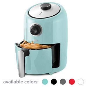 Dash (DCAF150GBAQ02) Compact Air Fryer Oven Cooker with Temperature Control, Non Stick Fry Basket, Recipe Guide + Auto Shut off Feature, 1.2 qt, Aqua