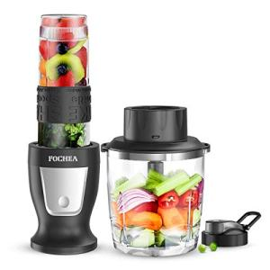 Smoothies Blender/Smoothies Bottle, FOCHEA Personal Blender Single Serve Small Blender for Juice shakes and Smoothies,with 20 Oz BPA-Free Portable Blender Bottle and 27 Oz Food processor