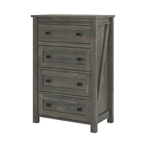Ameriwood Home Farmington, 4 Drawer Dresser, Weathered Oak