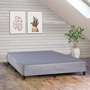 Spring Solution 13-Inch Plateform Bed For Mattress, Eliminate Need For Box Spring And Frame, King Size, Grey