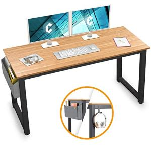 """Cubiker Computer Desk 47"""" Sturdy Office Desk Modern Simple Style Table for Home Office, Notebook Writing Desk with Extra Strong Legs, Natural"""