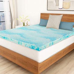 Mattress Topper, 2 Inch Gel Memory Foam Mattress Topper Queen with Ventilated Design - Queen Size