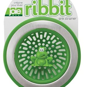 MSC International 10029 Joie Ribbit Kitchen Sink Strainer Basket, Frog, 4.5-inch, Green