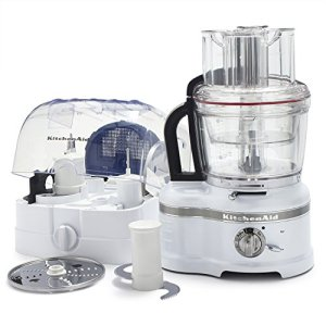 KitchenAid 16-Cup Food Processor w/Die Cast Metal Base & Commercial-Style Dicing Kit KFP1642FP Pro Line Series, Frosted Pearl White