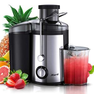 Juicer Machines, [2020 Upgrade] Joerid Centrifugal Juicer, Juice Extractor with Spout Adjustable, Lighter & Powerful, Easy to Clean & BPA-Free, Dishwasher Safe, Included Brush [Black] - 600W (600W)