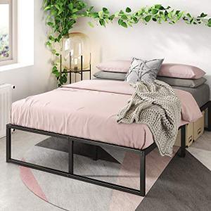 Zinus Lorelei 14 Inch Platforma Bed Frame / Mattress Foundation / No Box Spring Needed / Steel Slat Support, Twin