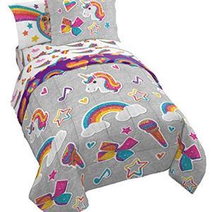 Jay Franco Nickelodeon JoJo Siwa Rainbow Sparkle Bed Set, Twin