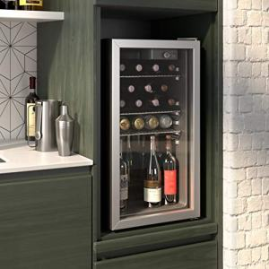 Cloud Mountain 100 Can or 26 Bottles Beverage Refrigerator or Wine Cooler with Glass Door for Beer, soda or Wine - Mini Fridge Used in the Room, Office or Bar - Drink Freezer for Party