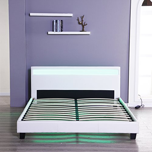 Bestmart INC Full Size Upholstered Platform Bedroom Bed Frame Leather Package deal Dimensions: 54.zero x 75.zero x 10.6 inches