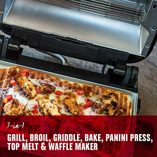 George Foreman Grill & Broil 7-in-1 Electric Indoor Grill, Broiler Package deal Dimensions: 15.eight x 15.four x 6.1 inches
