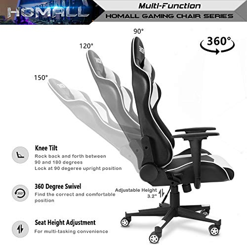 Homall Gaming Chair Office Chair High Back Computer Chair PU Leather Package deal Dimensions: 19.Eight x 20.5 x 47.Eight inches