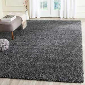 Safavieh California Premium Shag Collection SG151-8484 Area Rug, 8' x 10', Dark Grey