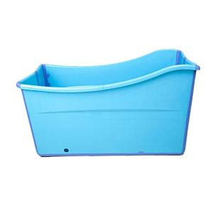 Weylan tec Large Foldable Bath Tub Bathtub For Baby Toddler Children Twins Petite Adult Blue