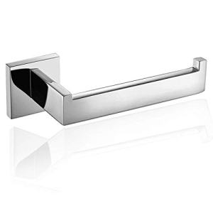 ThinkTop Luxury 304 Stainless Steel Chrome Finished Toilet Paper Holder Roll Quadrate Wall Mounted Mirror Polished Bathroom Accessories