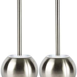 JAGURDS Toilet Brush with Holder Stainless Steel Bowl Cleaner, Perfect for Cleaning and Scrubbing Bathroom Floors and Accessories