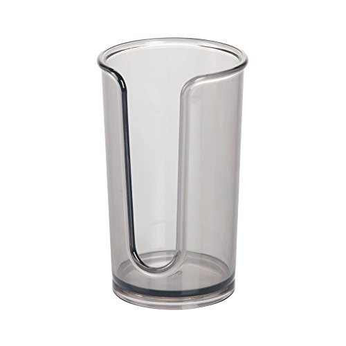 iDesign Clarity Disposable Dispenser Cup Holder, Smoke