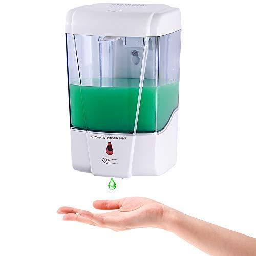 interhasa! Automatic Soap Dispenser Wall Mount, Hand Sanitizer Dispenser 600ml/20oz Touchless Sensor Hand Free Soap Dispenser for Gel/Liquid, ABS Plastic, White