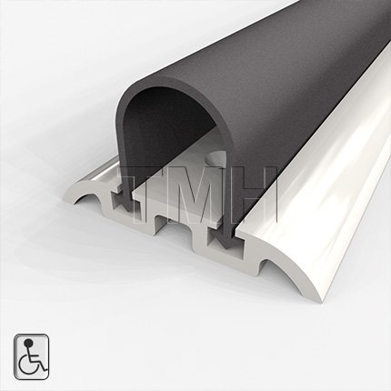"""Water Seal Shower Threshold, Wheelchair Accessible, High Quality Anodized Aluminum with Solid Neoprene Seal - 48"""" Length"""