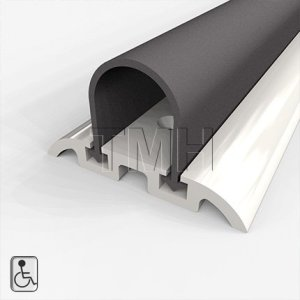 "Water Seal Shower Threshold, Wheelchair Accessible, High Quality Anodized Aluminum with Solid Neoprene Seal - 48"" Length"