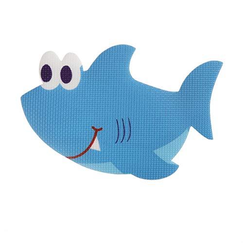 TOPBATHY 5 pcs Shark Bathtub Stickers Non-Slip Adhesive Sea Creature Decal Treads Bathtub Appliques for Kids Bathtub Shower Pool Slippery Surfaces Stairs(Blue)