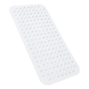 YINENN Bath Tub Shower Mat 31x15.5 Inch Non-Slip and Latex Free, Bathtub Mat with Suction Cups, Machine Washable Bathroom Mats with Drain Holes (Clear)
