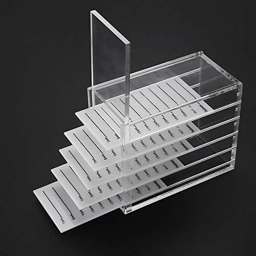 Buqikma Acrylic 5 Layers Clear Eyelash Storage Box False Eyelash Holder Case Makeup Display Container (Eyelash Box)