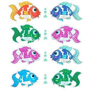 Pack of 10,Non Slip Bathtub Stickers,Adhesive Decals With Bright Colors,Ideal Large Appliques For Your family's Safety,Suit for Bath Tub,Stairs,Shower Room & Other Slippery Surfaces.(Colorful Fish)