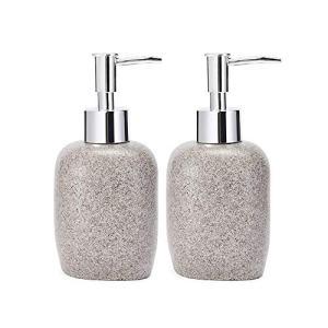 JYXR HOME&LIVING Soap Dispensers, Liquid Soap Dispenser Pump Bottle, Refillable Soap Dispenser for Bathroom, Kitchen, Holds Hand Soap, Dish Soap, Hand Sanitizer, Essential Oils/Black(2 Pack)