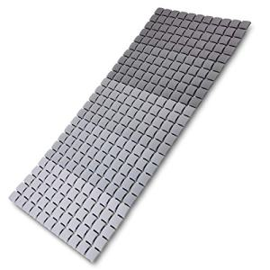 I FRMMY Extra Long Shower Stall Mat Non Slip Bathtub Bath Mats with Suction Cups and Drain Holes- 34 X 15.4 Inch (Gradient Gray)