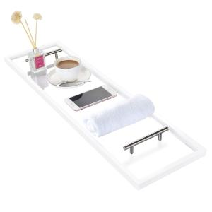 ToiletTree Clear Acrylic Bathtub Caddy with Rust-Proof Stainless Steel Handles