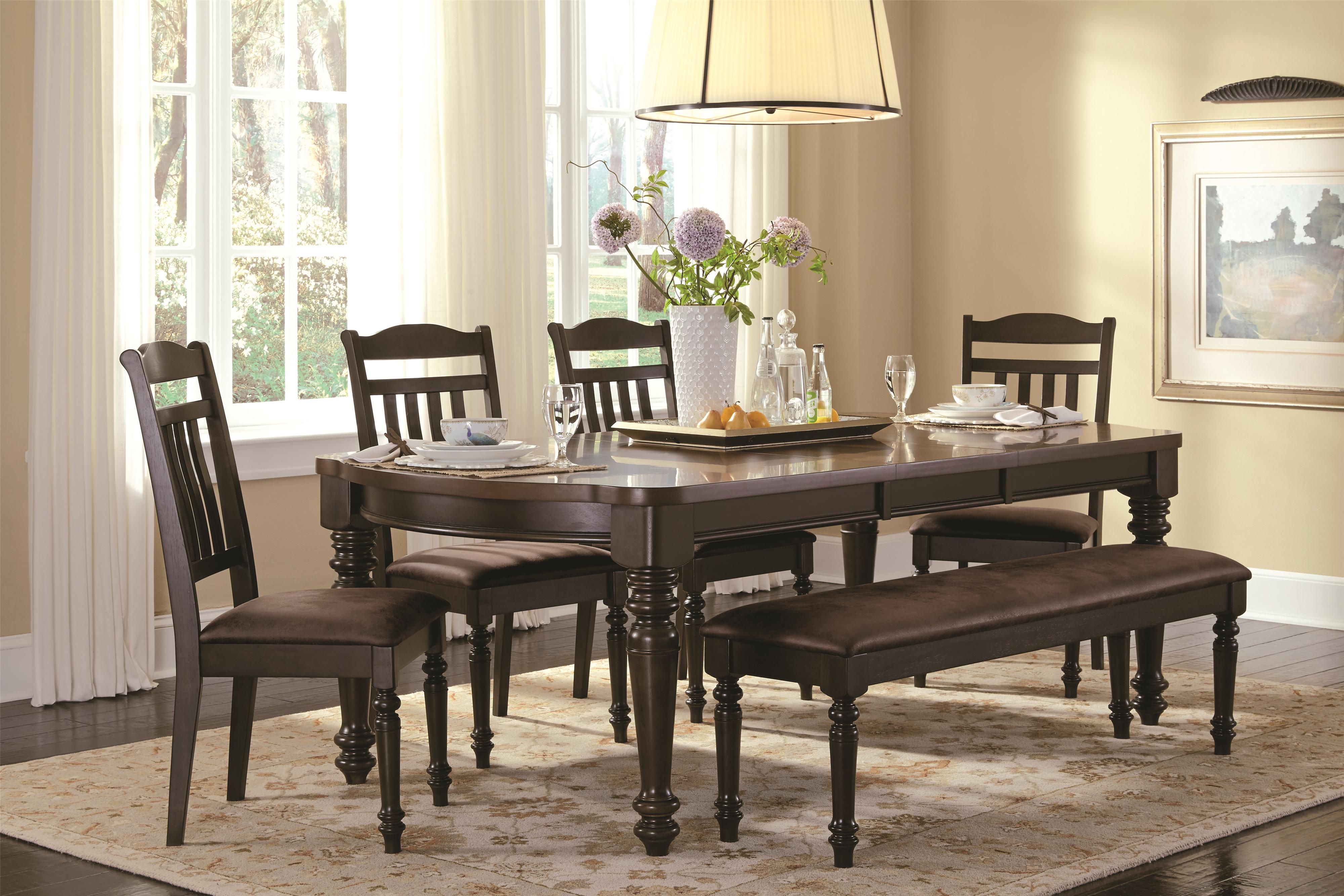 Mulligan Country Style Table And Chair Set With Bench