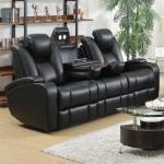Delange Leather Power Reclining Sofa Theater Seats With Power Adjustable Headrests Storage In Armrests Quality Furniture At Affordable Prices In Philadelphia Main Line Pa