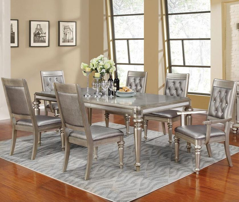 danette rectangular 7 piece bling dining table set with on dining room sets on clearance id=32823