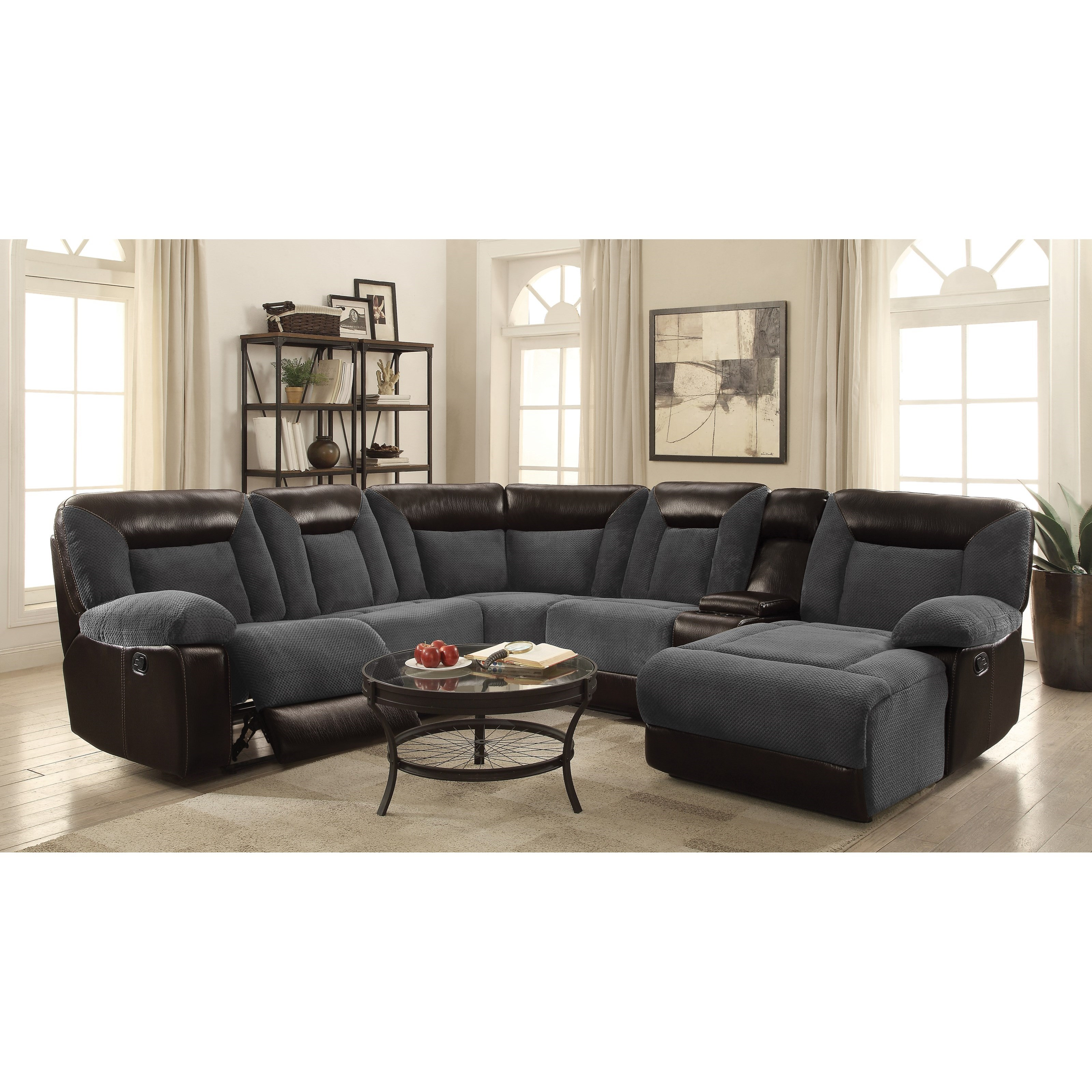 cybele modular motion sectional sofa by coaster