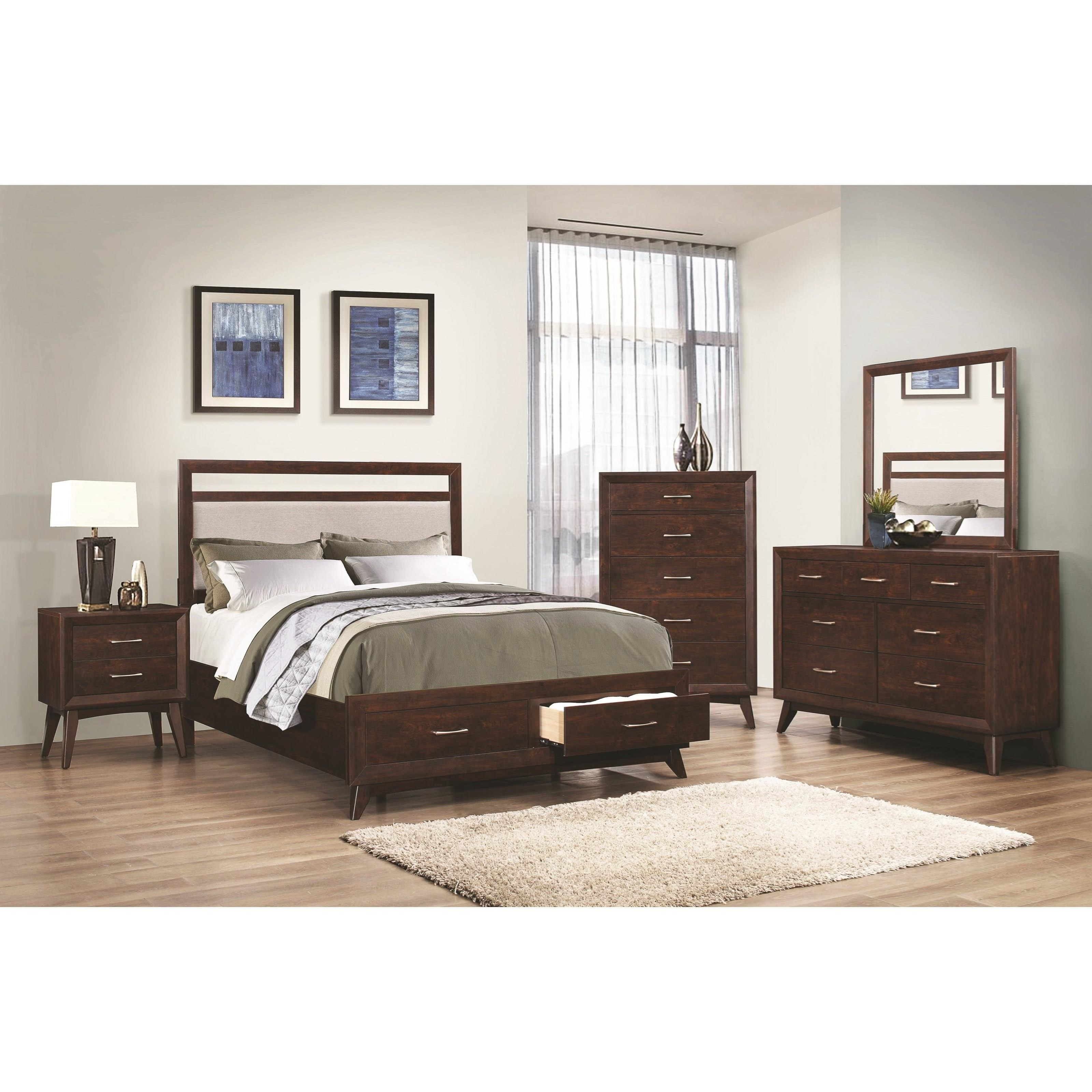 Carrington California King Storage Bed With Dovetail