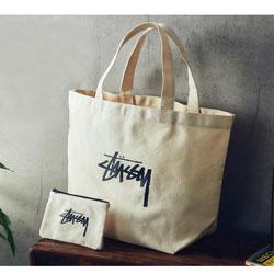 <予告> smart スマート 2017年 7月号 【付録】 STUSSY ステューシー トートバッグ、ミニポーチ