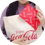 Popteen ポップティーン 2020年 2月号 【付録】 コカ・コーラ  斜めがけロゴトートバッグ & 総柄ポーチ