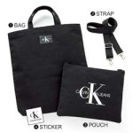 CALVIN KLEIN JEANS BAG & POUCH BOOK 【付録】 トートバッグ、ポーチ、ストラップ、ステッカー