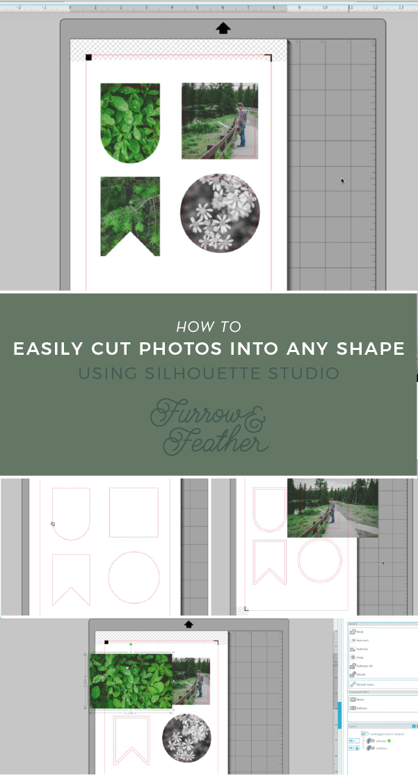 Silhouette Studio - Cut photos into any shape - Furrow and Feather
