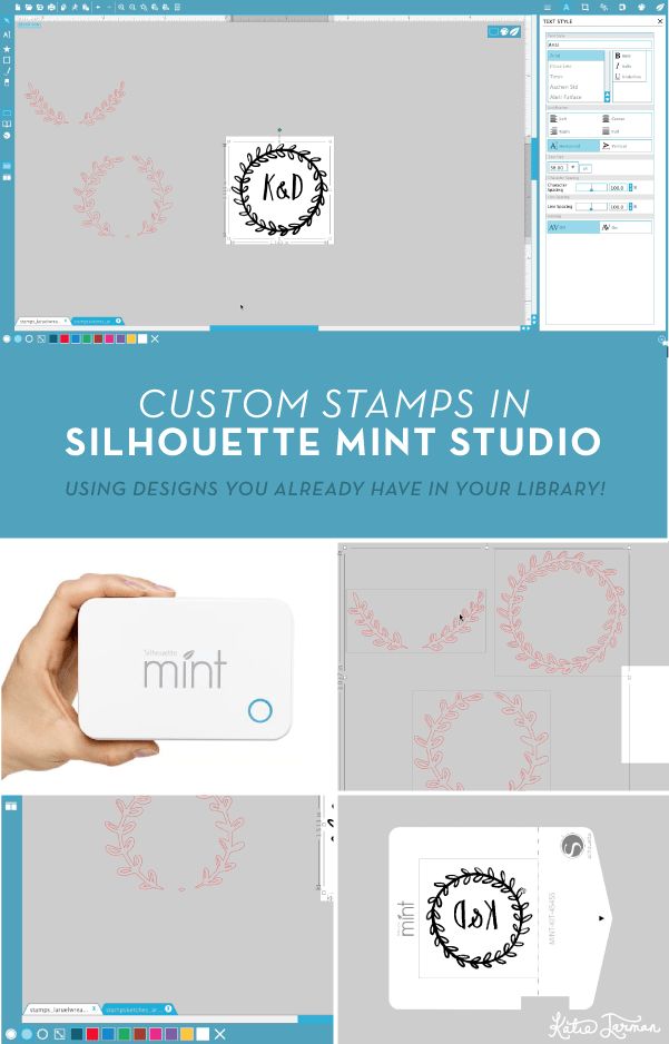 How to design custom stamps in Silhouette Mint Studio | KatieJarman.com